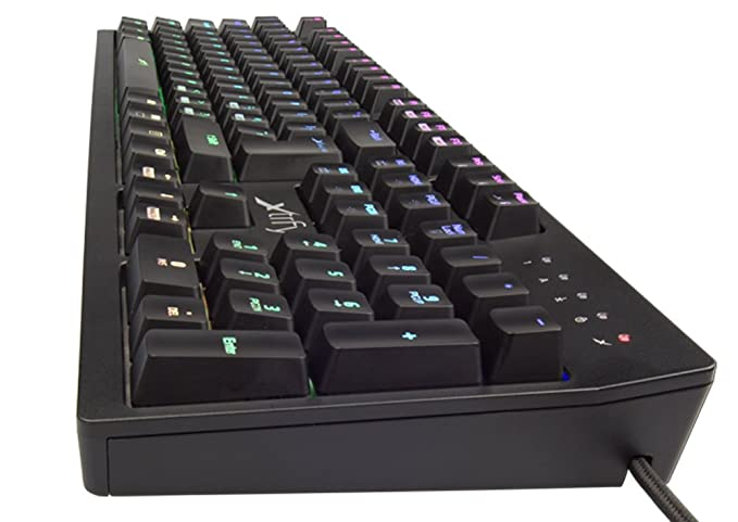 ae94a8947eb Xtrfy K2 Mechanical Gaming Keyboard with RGB LED - German Layout: Amazon.co. uk: Computers & Accessories