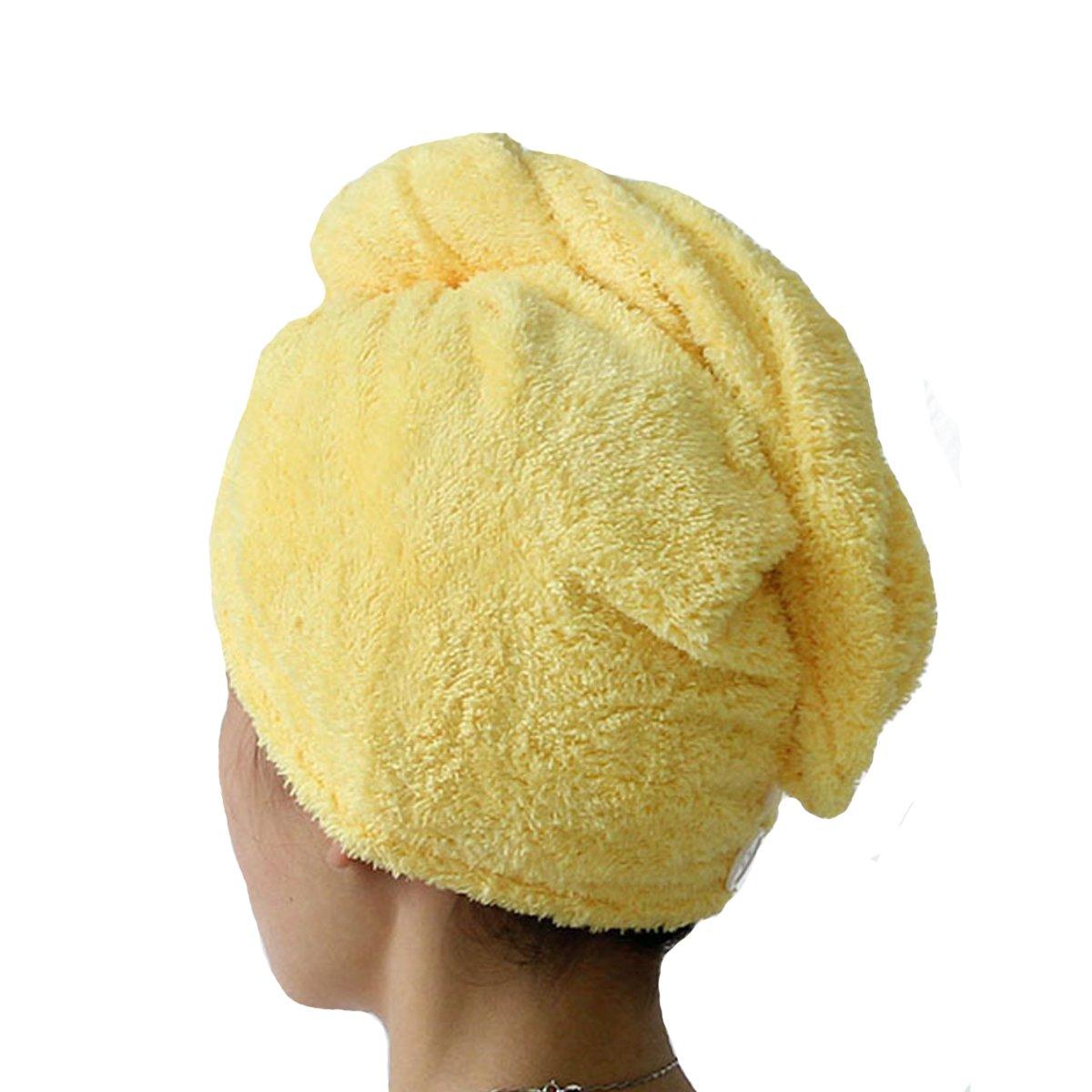 ZLMBAGUK Microfiber Hair Turban, Hair Towel Wrap Turban- Super Absorbent, Unique Design, Rainbow Rainbow (Hot Pink)