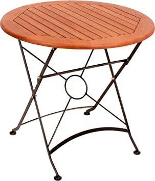 Amazon De Garten Tisch Klappbar Xl Holz Metall Garten Terrasse