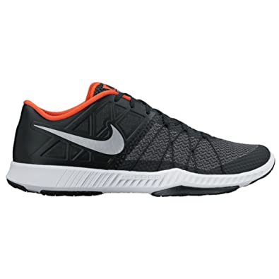 Nike Men's Zoom Train Incredibly Fast Training Shoe Black/Reflect Silver/ Black Orange Size