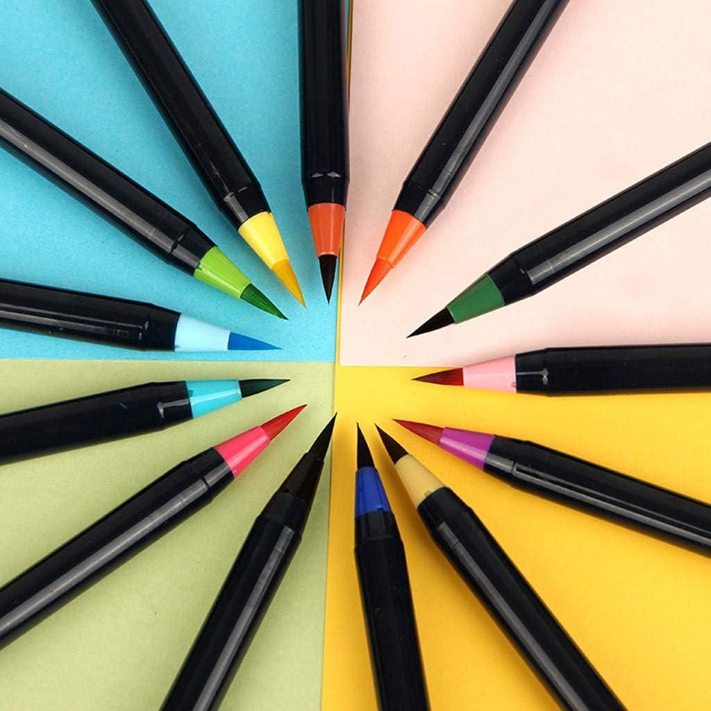 duquanxinquan Pinselstifte 20er Set Aquarell Farben Brush Pen Set Handlettering Stifte Set Aquarellpinsel Pinselstifte Set mit weicher und Flexibler Nylonspitze f/ür Kalligraphie Kindermalen