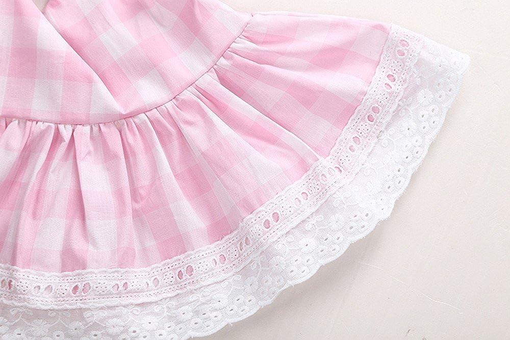 12-18M, Rosado 1 Conjuntos Covermason Beb/é Ni/ñas Princesa Bowknot Cord/ón Vestir y Pantalones cortos