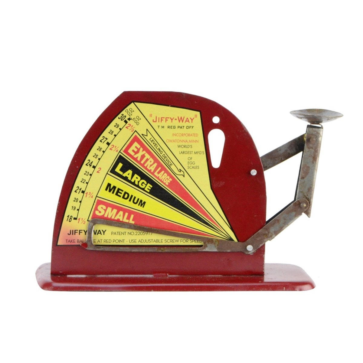 Vintage Style Jiffy Way Metal Poultry Egg Weighing Scale by TreasureGurus, LLC