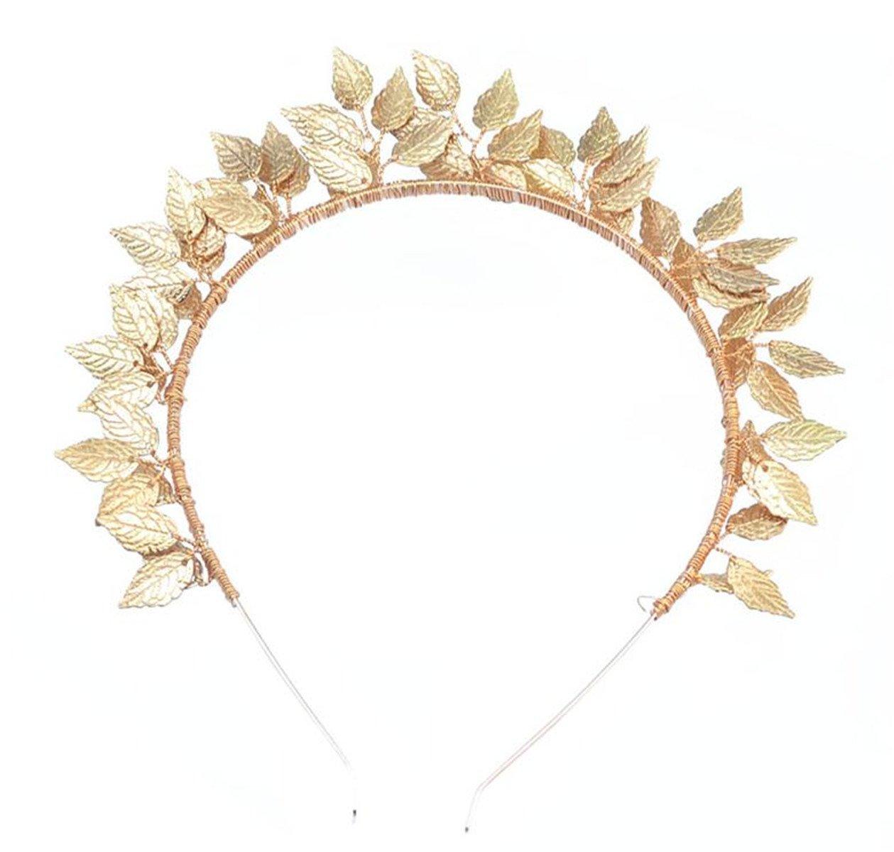 Wiipu Leaf Tiara Crown Hairbands Wedding Headdress(A1124) (gold)
