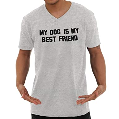 5dab1573a09a Amazon.com: Brisco Brands Funny My Dog is My Best Friend Pet Owner V ...