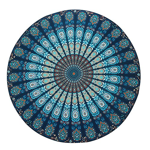 ISYITLTY Hippie Mandala Tapestry Round Roundie Wall Hanging