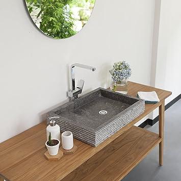 Waschbecken Grau Eckig