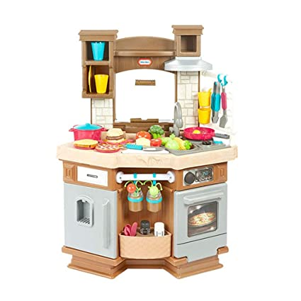 Amazon.com: Pretend Play Kitchen Playsets Children\'s Kitchen ...