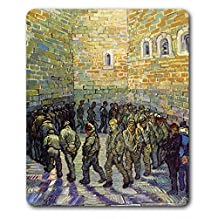 Vincent Van Gogh Mouse Pad - The Round Of The Prisoners, 1890, Detail (9 x 7 inches)