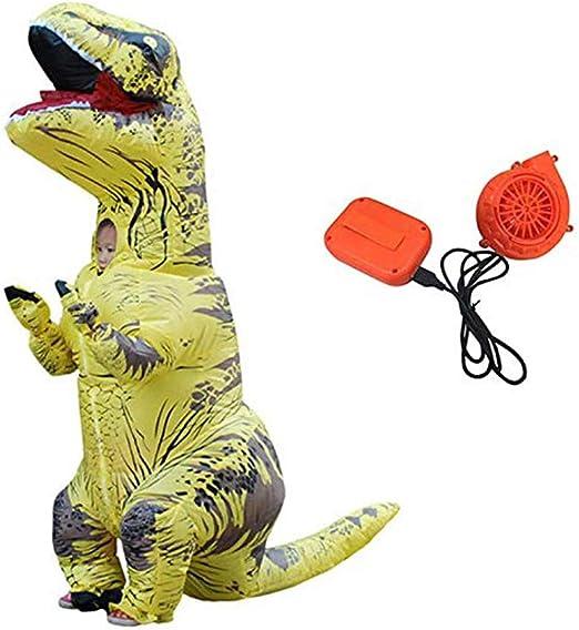 Puruitai Disfraz de Dinosaurio Inflable para Halloween, Disfraz ...