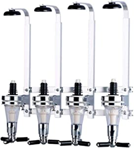 4 Bottle Wall Mounted Liquor Dispenser Wine Dispenser Machine Wall Mounted Beverage Bottle Stand Bar Drinking Pourer Home Bar Tools For Beer, Coke And Fizzy