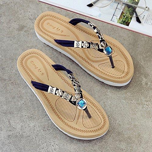 con piatti pantofole sandali Blu JIA estivi Sandali e qxIwxaEY