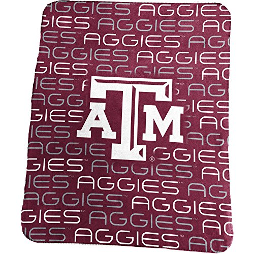 Logo Brands NCAA Texas A and M Aggies Classic Fleece Blanket