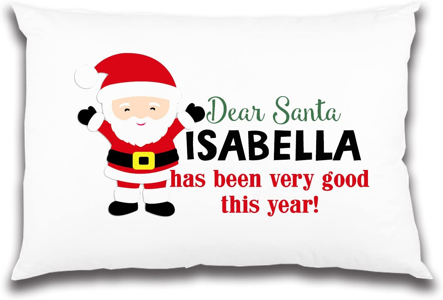 Santa personalised pillowcase great Christmas Eve gift idea