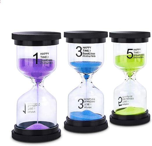 Kitchen Games Blue Sand Timer Hourglass 10 Minute Sandglass Timer for Kids