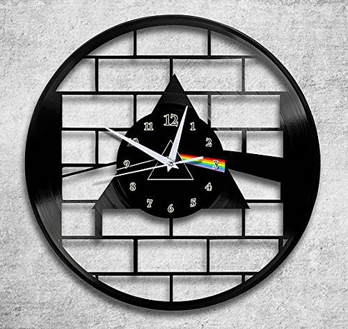 ForLovedGifts Pink Floyd Design Vinyl Wall Clock - Handmade Gift for Any Occasion - Unique Birthday, Wedding, Anniversary, Wall décor Ideas for Any Space