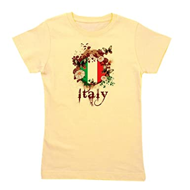 31d8ba84 CafePress - Butterfly Italy - Girl's Cotton T-Shirt, Cute Slim Fit Girl's  Shirt