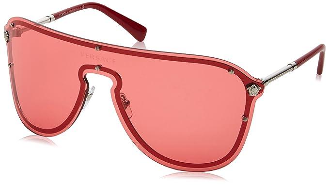 Versace 0VE2180 100084 44, Montures de Lunettes Femme, Argenté (Silver Pink) 2295f675e5aa