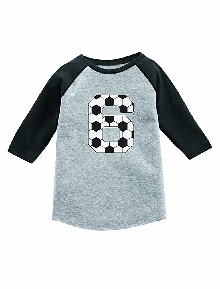 Amazon Tstars Soccer 6th Birthday Gift For 6 Year Old 3 4 Sleeve Baseball Jersey Toddler Shirt Clothing
