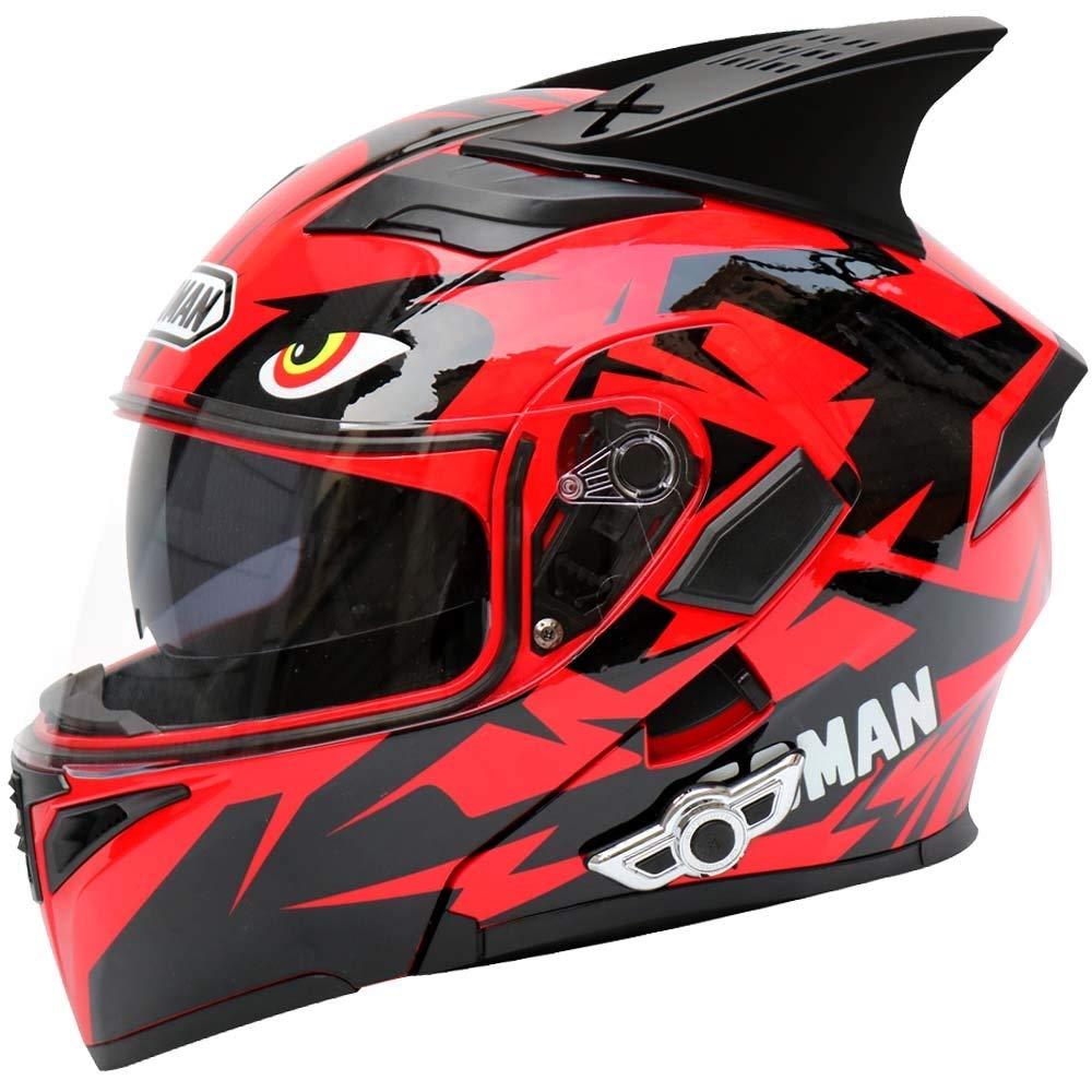 ZXF マルチカラーチョイスクールパターンABS多機能ブルートゥース大人自転車ヘルメットサイクリング電気自動車オートバイヘルメットサイクリングマウンテンバイクヘルメットアウトドアライディング機器 安全 (色 : Red, Size : L) Large Red B07SXC2TQW