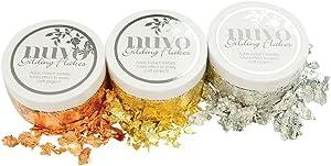 Nuvo Gilding Flakes - Radiant Gold, Silver Bullion & Sunkissed Copper - 3 Item Tonic Studios Bundle