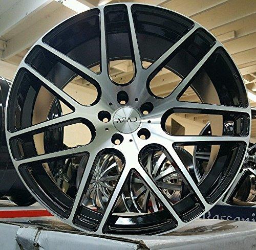 "22"" INCH STAGGERED AZAD AZ006 WHEELS RIMS & TIRES BMW"