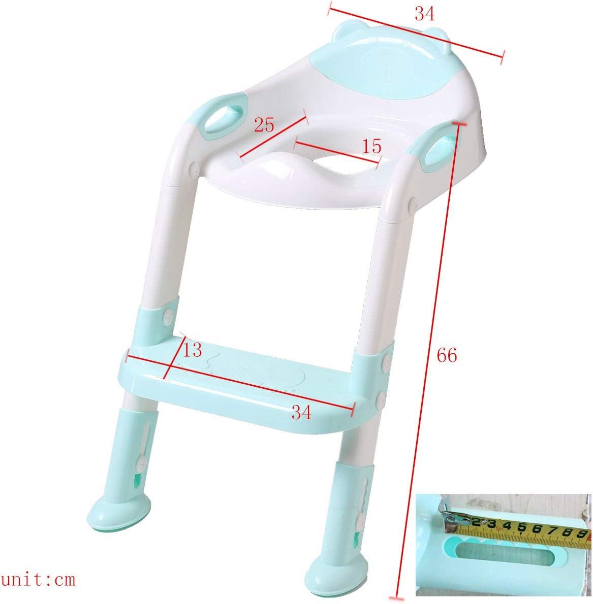 DoubleBlack Orinal/Adaptador/Asiento/Plegable/WC/con/Escalera/Ni/ños/Reductor/Bebe Azul
