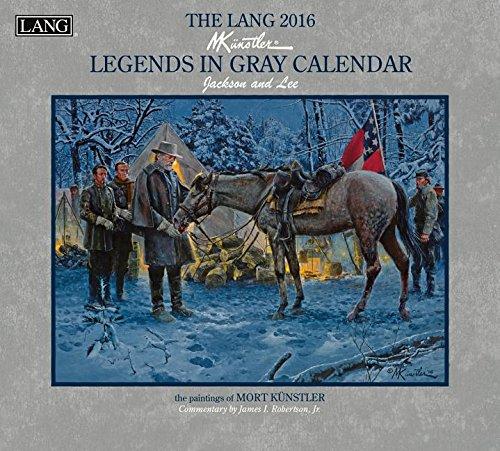 Lang 2016 Legends in Gray Wall Calendar]()