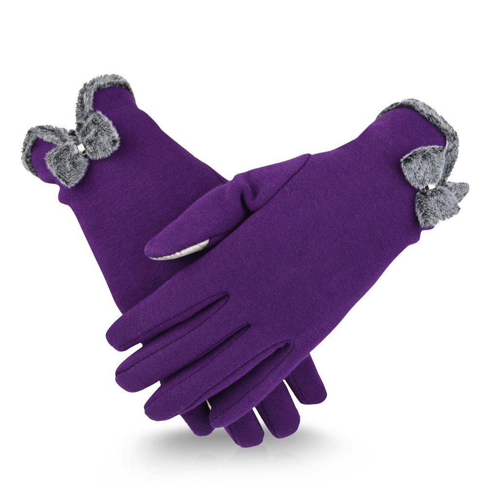 Vbiger Women Winter Warm Gloves Touchscreen Texting Gloves Cold Weather Gloves