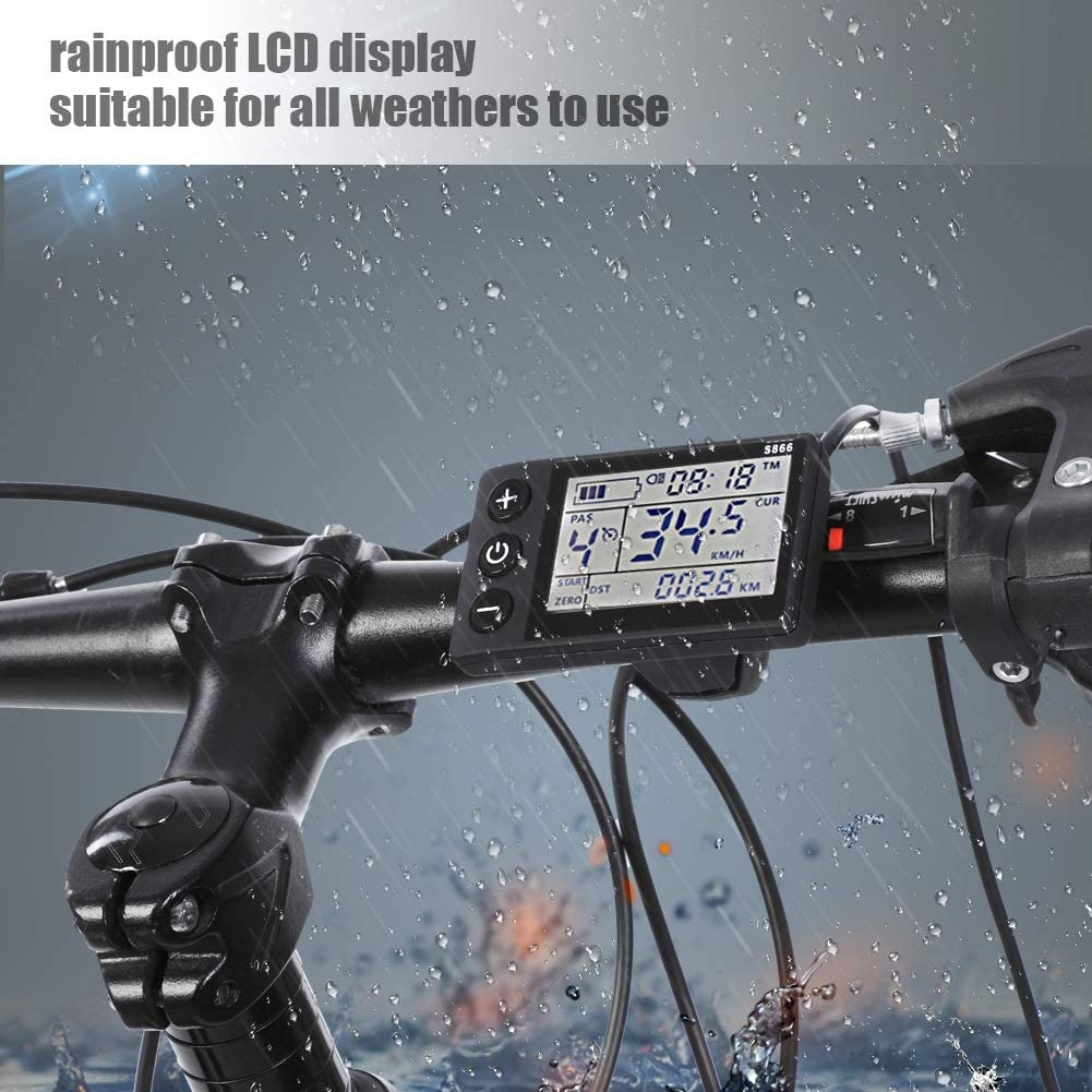 Electric Bicycle Waterproof LCD Display Panel For E-bike /& Scooter 24V-48V Electric Motor Brushless Controller Aluminium Sine Wave Controller