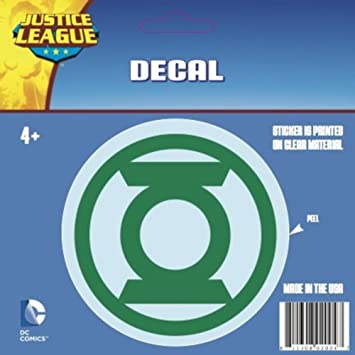 DC Justice League Green Lantern White logo Car Window Sticker Decal Family 4/""