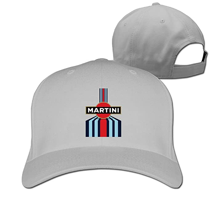 Mens Womens Martini Racing Pure Snapback Peaked Cap Baseball Hats Ash 9f8ab28e64ac