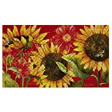 Evergreen Flag & Garden 41EM2122 Sunflower Floor Embossed Door Mat, Multicolor