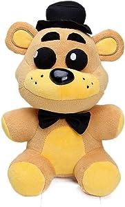25cm FNAF Freddy Fazbear Plush Toys Five Nights at Freddy's Golden Bear Nightmare Cupcake Foxy Balloon Boy Clown Stuffed Dolls - by XSmart Mall
