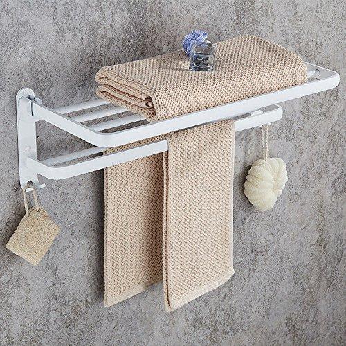 Hlluya Toallero El Espacio en Blanco del Aluminio Toallas plegadas de Toallas de baño estantería incorporada WC Brush Set, Suite B: Amazon.es: Hogar