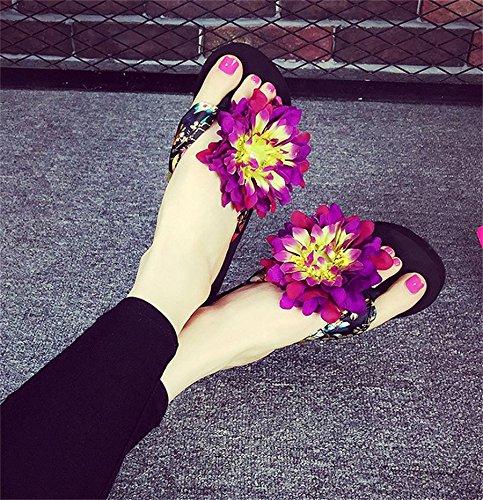 Las patas acolchadas de espinilla Arrastrar evitar el deslizamiento de tierra, calzado fresco verano señoras Beach Shoes 3