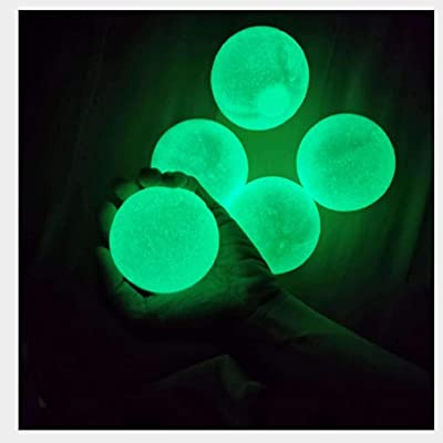 Sensory Stress Ball Toy Set for Kids and Adults 4Pcs Sticky Wall Balls Filled with Water Beads to Relax Decompression Toys Balls Glow in The Dark Stress Relief Balls