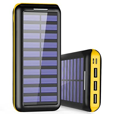 Power Bank 24000mAh Solar Charger, PLOCHY Portable Charger