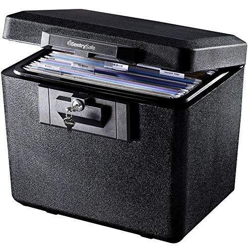 SentrySafe 1170 Fireproof Box with Key Lock 0.61 Cubic Feet ()