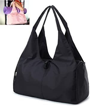 Large Yoga Mat Bag and Carriers Yoga Tote Sling Bag, Gym Duffel Fitness Bag with Shoe Compartment for Men Womens