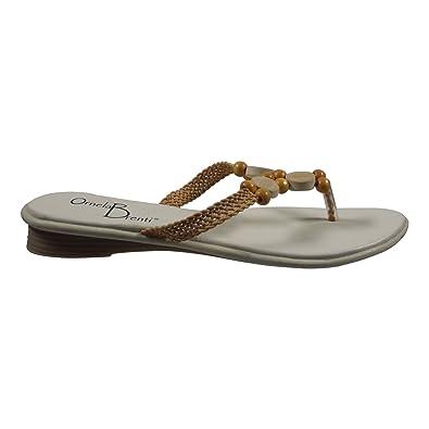 Ornela Brenti 33106-501 Damen Schuhe Premium Qualität Zehentrenner Schwarz (schwarz) [EU 36.0] I4lHB