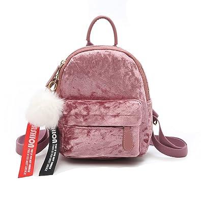 ed6412fcb5 Mini Velvet Backpack Bag Female Cute Backpacks High Quality Back Pack For  Girls Gift Women s Small Backpack Korean 2018  Amazon.co.uk  Shoes   Bags