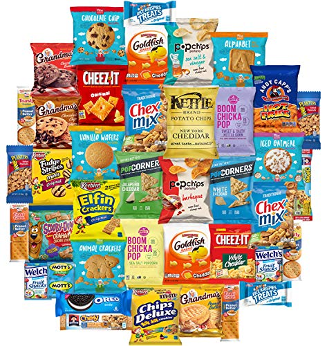 Snacks Generation Mix Variety Pack of Chips, Cookies, Candy, Care Package to Friends and Family (40 Count) -