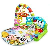 Cozyhoma Kick et Play Piano Gym, Born bébé Tapis de Jeu avec Centre d'activité, Musique et Sons Toys Pad pour ou garçon et Fille 0–36Mois 60x74x42cm coloré