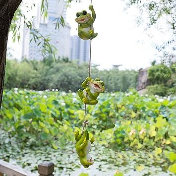 Animal De Dibujos Animados Tortuga Decoración De Jardín Decoración De Jardinería Jardín Jardín Exterior Adornos Pequeños Ornamento Colgante frog: Amazon.es: Bricolaje y herramientas