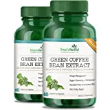 Simply Herbal Green Coffee Bean Extract Pure 800 Mg 100% Natural Weight Loss Supplement - 60 Capsules (Pack of 2)