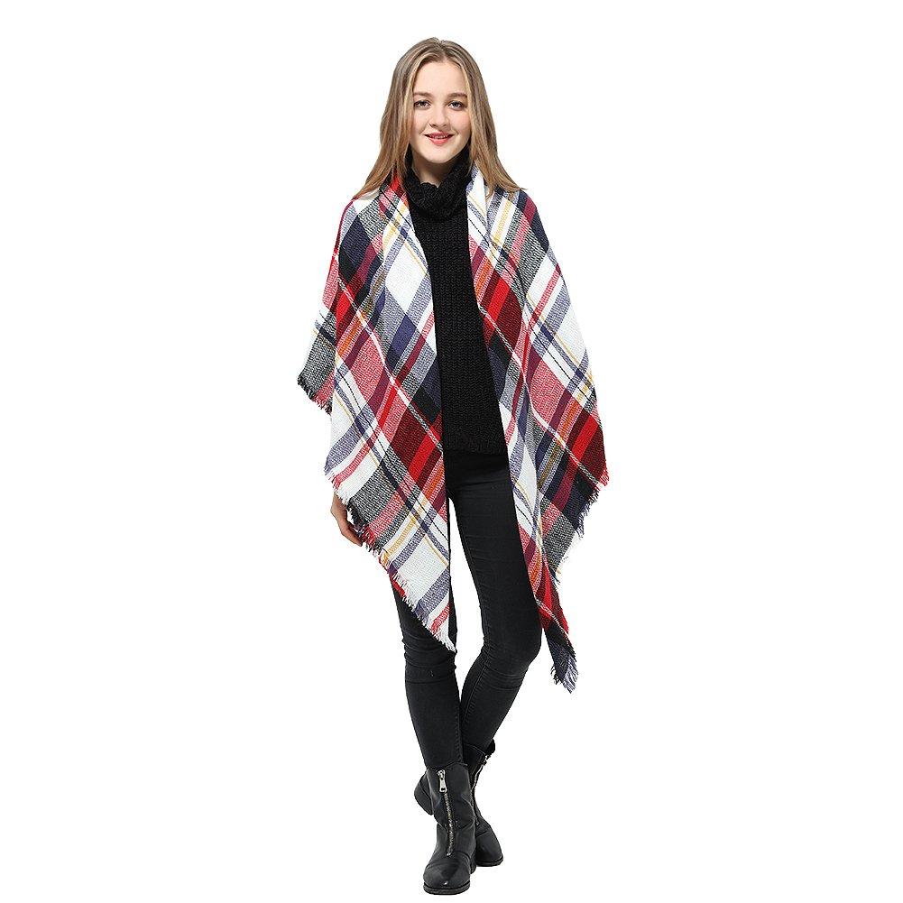 6478c218e82c Womens Blanket Scarf Shawl Wrap Plaid Cozy Pashmina Winter Fashionable  Scarves product image