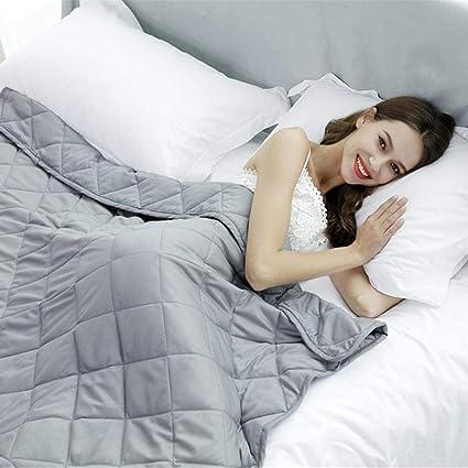 Leo565Tom Manta ponderada para niños Adultos, algodón Engrosado, Manta Pesada, Tratamiento de insomnio