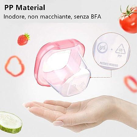 Adatto a Congelatore e Microonde 60 ml BPA Free Contenitore Per Alimenti Per Bambini Bambino Contenitori Porta Cibo a prova di perdita Airtight