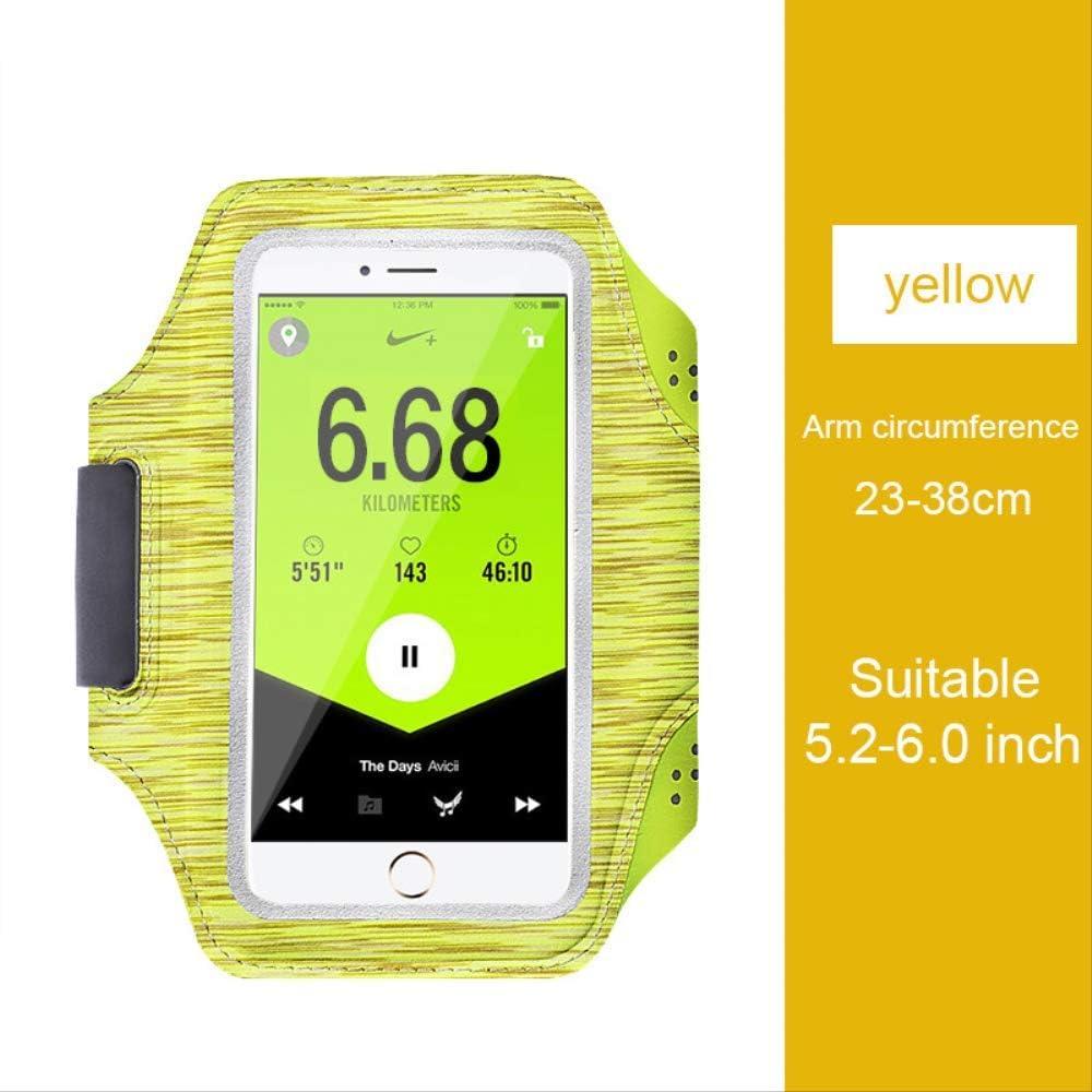 Guomvp Estuche Deportivo con Banda para el Brazo Funda para teléfono para Samsung A6 A8 Plus J4 J6 2018 J7 Neo J3 J5 Pro J2 Prime J1 A3 A5 A7 2015 2016